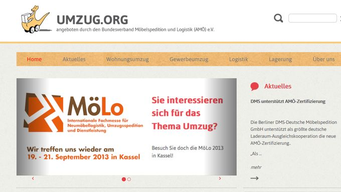 AMÖ Screenshot www.umzug.org