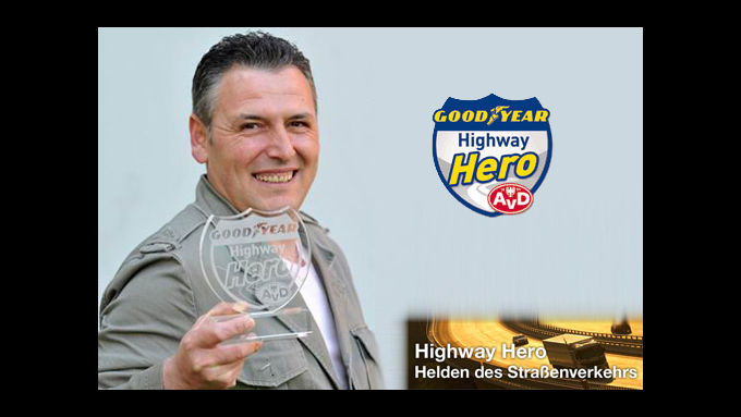Highway Hero rettet Mann vor dem Flammentod