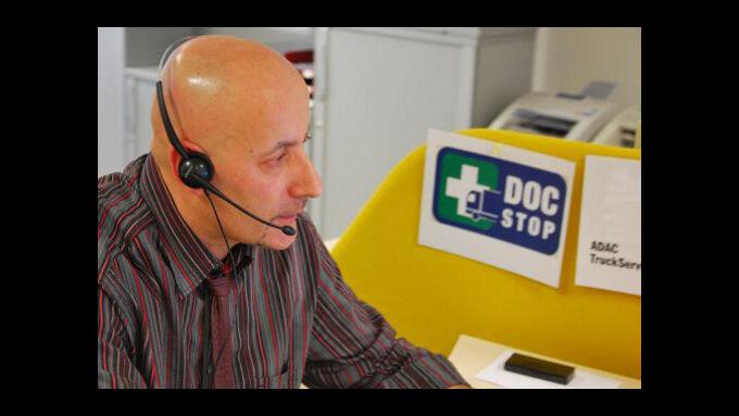 Immer mehr Lkw-Fahrer wählen die Doc-Stop-Hotline