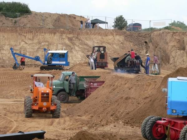 Kippertreffen, Bagger, baggern, Kiesgrube, Sanfhaufen, FBW, Krupp V8, Merdedes, Fuchsbagger