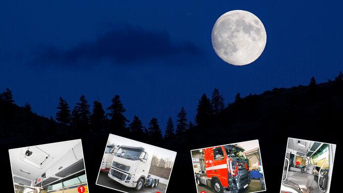 Kriminalität, Volvo FH16, digitaler Tachograf, Frontverkleidung, Beifahrersitz