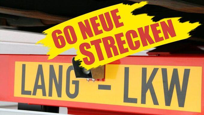 Lang-Lkw, Strecken, 60