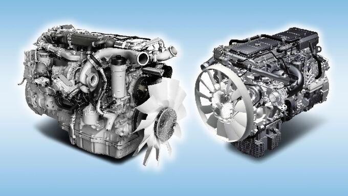 Mercedes Actros und Scania G, Technik, Motoren