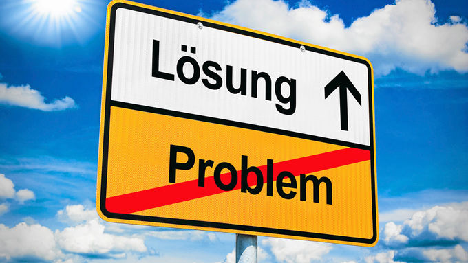 Problem, Lösung, Tafel, Ausweg