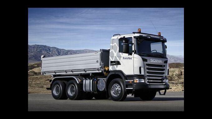 Scania vermietet Baufahrzeuge