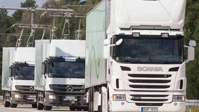 Siemens und Scania forschen gemeinsam am elektrifizierten Straßengüterverkehr / Siemens and Scania are conducting joint research into the electrification of road freight traffic