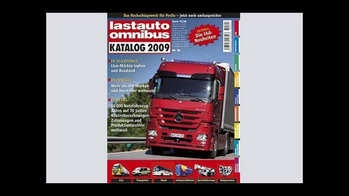 Titelseite lastauto omnibus Katalog 2009