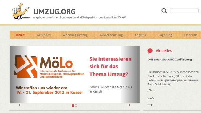 AMÖ Screenshot www.umzug.org