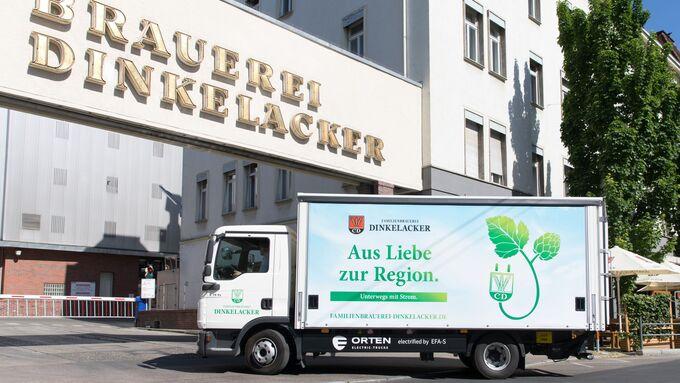 Dinkelacker, Orten, E-Lkw, Stuttgart