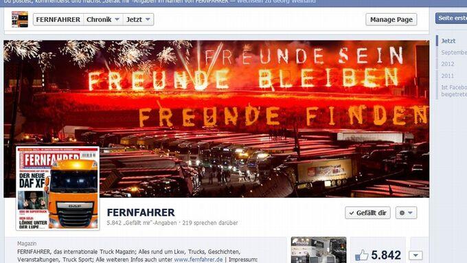 Facebook, Fernfahrer, Screenshot