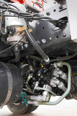 MAN Hydrodrive kontra 8x4-Antrieb, Hydropumpe