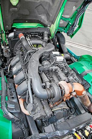 Scania R500 Ecolution, acht, Zylinder