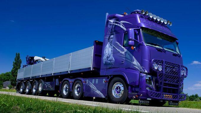 Supertruck FERNFAHRER 01-2011, Volvo FH 16 The Boss von Harry van Dalen aus Holland, Truck