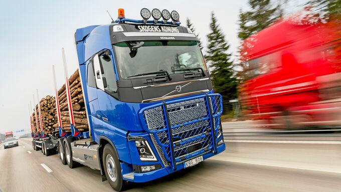 Volvo FH16-750 6x4, Fahrbericht, Fuhre Holz