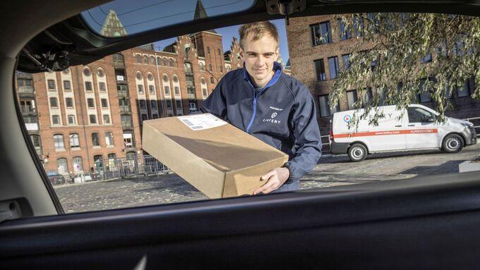 smart ready to drop+, ein Service der Daimler Tochter Smart und des KEP-Dienstleisters Liefery
